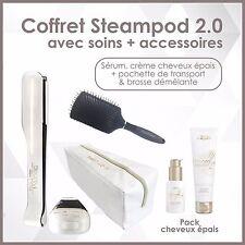 L'OREAL - PACK STEAMPOD 2.0 SÉRUM & CREME CHEVEUX EPAIS + TOUSSE + BROSSE
