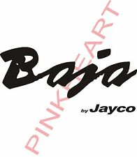 2-Baja by Jayco decals trailer rv popup jayco made in the USA Decal Vinyl Baja
