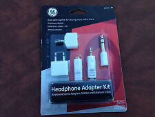 New GE 20101, Headphone Adapter Kit Airplane&Stereo Adapters Splitter& Extension