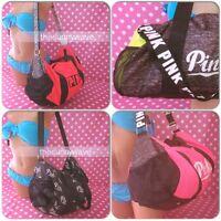 Victorias Secret PINK Active Duffle Bag Travel Tote Logo Gym Book School Campus
