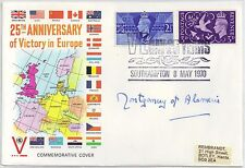 GB-UK Genuine Autographed 25th Anniv VE Day Cover signed Montgomery of Alamein