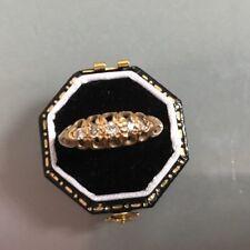 Donna 18ct oro antico anello di diamanti Taglia P peso 2.25g timbrato