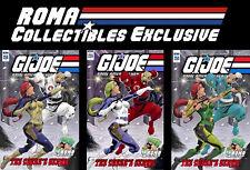 IDW GI Joe ARAH #256 Set of 3 Variant Covers- Classic Argentina Ninja Force-ROMA