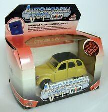 Polistil 1/25 Scale S219 Citroen 2CV Light Yellow Vintage Diecast model Car