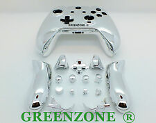 Silver Chrome Xbox One Replacement Custom Controller Shell Mod Kit and Buttons