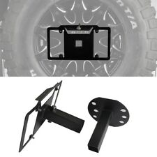 Black Spare Tire License Plate Mount Bracket Fit Jeep Wrangler JK & TJ 97-18
