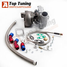 T3T4 T04E Oil Cold Turbo A/R. 63 +Oil Line Kit For Nissan Patrol Safari Y60 Y61