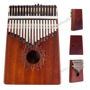 US 17 Key Kalimba Thumb Piano Finger Mbira Solid KOA Keyboard Musical Instrument
