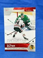 2021 Topps Now NHL Stickers Pius Suter RC #36 Chicago Blackhawks rookie