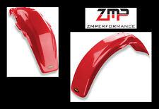 NEW HONDA 81 - 82 XR 500R RED PLASTIC FRONT AND REAR MOTORCYCLE FENDER SET