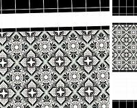 Dolls House Victorian Wallpaper Kitchen Quality Satin Pearl Paper Miniature #07