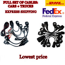 Cables for Autocom CDP Delphi DS150E. CARS + TRUCKS cables. Express shipping.