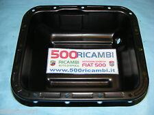 FIAT 500 D/F/L/R COPPA OLIO MOTORE ORIGINALE IN METALLO NERA 3 KG SOTTOCOPPA