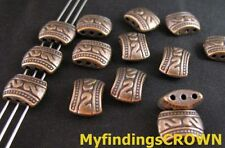50PCS  Antiqued copper 3 Holes spacer beads FC29