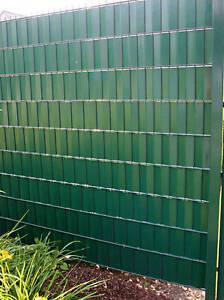 20 Klemmleisten für Wind- Sichtschutz  Klemmschienen doppelstab Zaun Blickdicht