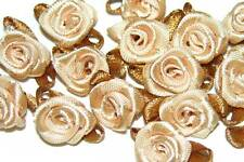 100 rose flower ribbon satin appliques trim lot cafe L