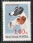 Fox Terrier Dogs Magyar MNH stamp
