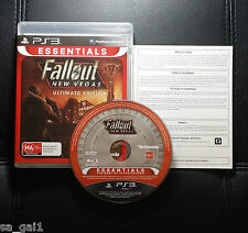 Fallout New Vegas Ultimate Edition (PlayStation 3, 2012) PS3 Game Very Good cond