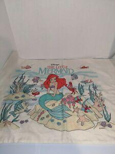 Vintage The Little Mermaid Pillowcase Disney 1990s Ariel Sebastian -  1 Case