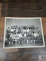 Vintage 1959 8×10 photo West Ward Kelleen Texas School Group Photo Names On Back