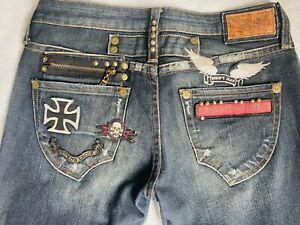 Robin's Jean Rock N Roll Patch Jeans - men's Size 30 - Made In USA