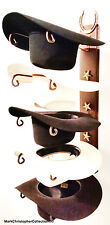 American Made Cowboy Hat Holder with Stars Powder Coated Genuine Horse shoe