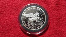1984 Pegasus Gold Corp, 1 oz Silver Coin, Zortman Landusky Mines Montana, Proof