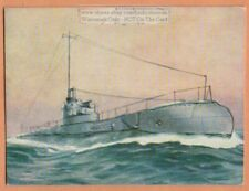 British Royal Navy Combined Diesel and Electric Submarine 1930s Ad Trade Card