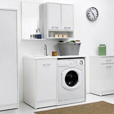 Mobile Lavatoio coprilavatrice con vasca SX e lavatrice a DX 106X50 colore bianc
