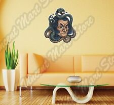 "Chinese Man Face Snake Tattoo Painting Wall Sticker Room Interior Decor 22""X22"""
