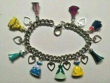 CHILDS Handmade Silver  PRINCESS DRESSES  Charm Bracelet With 17 Charms