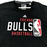 NBA Chicago Bulls Basketball Adidas Men's Short Sleeve T Shirt 2X Black Red Crew
