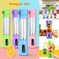 380ml Portable USB Rechargeable Juicer Bottle Cup Fruit Blender Mixing Machine