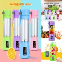 380ml Portable USB Rechargeable Juicer Bottle Cup Fruit Blender Mixing Machine