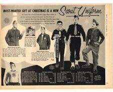 1957 BOY SCOUTS Clothing Uniforms w/Prices for Christmas Gifts VTG PRINT AD