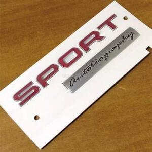 NEW GENUINE RANGE ROVER SPORT AUTOBIOGRAPHY REAR BOOT BADGE  RED / SILVER