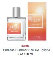 Clean Endless Summer 2 oz / 60 ml Eau De Toilette EDT Spray, NEW, SEALED