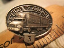 Vtg Roadway 3 Year Trucking Safety Award Driving Pinback nr