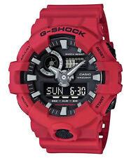 Casio G-Shock Mens Wrist Watch GA700-4A GA-700-4A Red Black Super Illuminator