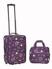 Rockland 2 Piece Purple Pearl Luggage Set F102-PURPLEPEARL luggage NEW