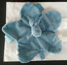 Doudou plat âne paco noukie's bleu étoiles attache tétine noukies com 9