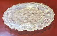 BOSTON SANDWICH OPALESCENT CUP PLATE IN THE QUATREFOIL PATTERN EAPG FLINT