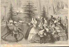 SAINT SANKT PETERSBOURG PETERSBURG ARBRE DE NOEL CHRISTMAS TREE GRAVURE 1861