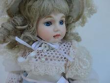 "Vintage - Fine All Porcelain Doll {Jointed Legs & Shoulders} Lace Dress 12"""