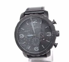 Fossil JR1354 Nate Chronograph Black Leather Men's Watch