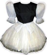 """Brooklyn"" Custom Fit SATIN & SHEER Adult LG Sissy Baby Dress & SASH LEANNE"