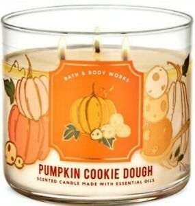 Bath & Body Works Pumpkin Cookie Dough 3 Wick Candle ~ 14.5 oz. ~ Ships Free!!!