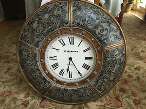Beautiful Round Rutherford Wall Clock 29.5 Inch Diameter and 3 Inch Deep