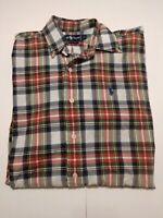 Ralph Lauren 100% cotton Shirt Mens Sz M Short Sleeve Button Up Multicolor