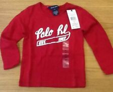 New with tags girls genuine Ralph Lauren t shirt red with silver design size 2T